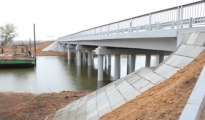 Строительство подъездной автомобильной дороги к с. Ново-Булгары в Икрянинском и Камызякском районах Астраханской области.